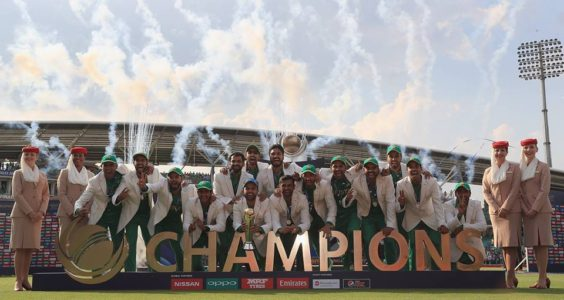 Pakistan, the winners of the ICC Champions Trophy 2017